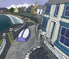 PARROG, TREFDRAETH by Chris Neale So pleased with my lovely birthday print: a gorgeous painting of our favourite Welsh village.