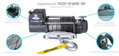 Superwinch Tiger Shark 9.5SR Shark, Sharks