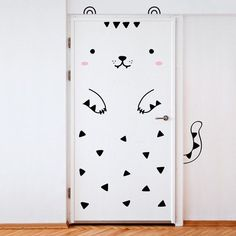 Removable stickers that will turn your door into a tiger.