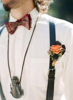 Steampunk wedding. Blackberries in the boutineer?