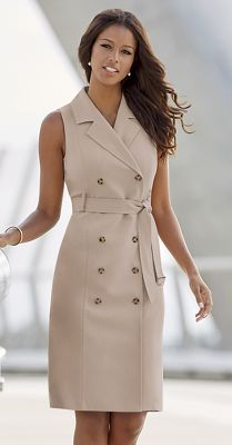 Midnight Velvet: In The Trenches Dress/Vest Simple Dresses, Casual Dresses, Dresses For Work, Stylish Work Outfits, Classy Outfits, Elegant Outfit, Classy Dress, Fall Fashion Outfits, Look Fashion
