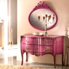 French commode and mirror.