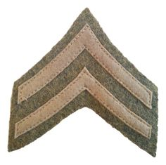 U.S WW1 Corporal Rank Patch- Reproduction