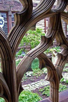 garden at Trinity Church in Boston