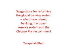 Fractional reserve and genuine Islamic banking where the core deposits are based on profit sharing and the core financing operations are for asset financing, t… Proposals, Islamic, Finance, How To Plan, Wedding Proposals, Economics, Proposal, Marriage Proposals, Submission