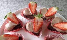 Corazón de chocolate y fresa