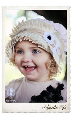 Girls Vintage Inspired  Little Miss Muffin Hat. $28.00, via Etsy.