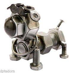 """Get terrific ideas on """"metal art scrap"""". They are accessible for you on our website. Welding Art Projects, Metal Art Projects, Metal Sculpture Artists, Steel Sculpture, Sculpture Ideas, Art Sculptures, Dog Sculpture, Recycled Metal Art, Scrap Metal Art"""