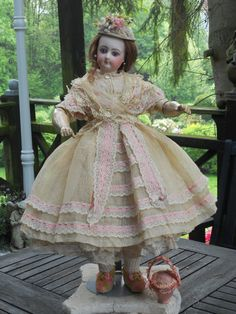 ~~~ Gorgeous French Bisque Poupee with Herbillon Body ~~~ from whendreamscometrue on Ruby Lane