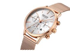 MEGIR Women Watch Luxury Fashion Quartz Chronograph Auto Date Top Brand Stainless Sport Waterproof Gold Reloj Mujer Ladies Gift Stainless Steel Mesh, Latest Jewellery, Luxury Fashion, Womens Fashion, Jewelry Trends, What I Wore, Gold Watch, Chronograph, Jewelry Stores