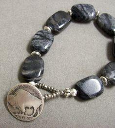 Buffalo Button Bracelet $25.00