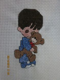 "Completed Cross Stitch: Precious Moments ""His Love"" by WhimseysByAnne, $10.00"