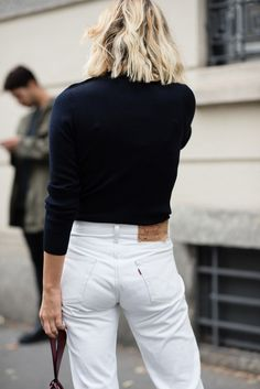 Minimal | White denim | Street style | Harper and Harley