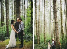 I love the idea of this. A simple wedding, in nature, no microphones, no venue, just outside, celebrating love!