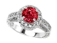 Original Star K™ 7mm Round Created Ruby Engagement Ring
