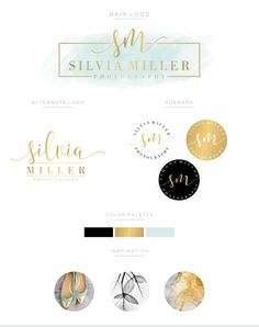 Branding Kit Branding Package Premade Logo Watercolor Logo