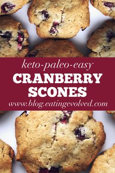 These aren't your regular, dry and crumbly scones.they're moist, fluffy and soft. Thm Recipes, Clean Recipes, Keto No Bake Cheesecake, Healthy Scones, Cranberry Scones, Paleo Treats, Keto Desserts, Low Carb Keto, Original Recipe