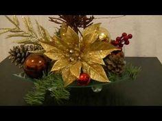 Haz un precioso centro de mesa Navideño con Vela LED - YouTube
