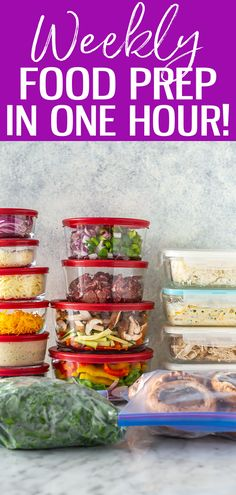 Meal prep doesn't need to take an entire weekend. Learn how to food prep in just 1 hour with this time-saving method, it's a game changer! #freemealplan #foodprep Free Meal Plans, Meal Prep For The Week, Time Saving, Food Prep, Game Changer, Clean Eating Recipes, Whole Food Recipes, Prepping, Cleaning