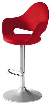 Soft-SG Swivel Stool, Red - modern - Bar Stools And Counter Stools - Inmod
