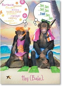 Valentine's Day Card - Monkeying Around | Kimball Stock | 2000163-P | Leanin' Tree