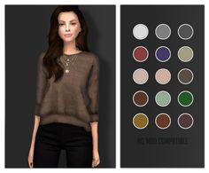 Sims 4 CC's - The Best: Sweater by Volatile