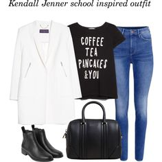 Kendall Jenner monday inspired school outfit by thejennerstyleguide on Polyvore featuring MANGO, H&M, Monki and Givenchy