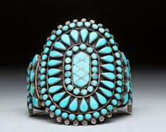 Zuni Turquoise and Sterling Silver Bracelet