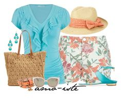 """""""Floral Shorts"""" by amo-iste ❤ liked on Polyvore"""