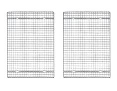 Mrs Andersons Baking Professional Half Sheet Baking and Cooling Rack Heavyweight Chrome 165Inches x 1175Inches Set 2 ** See this great product.