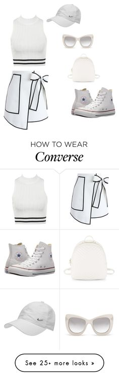 """""""Untitled #128"""" by miharadef on Polyvore featuring Chicwish, Steve Madden, Converse, Le Specs Luxe and NIKE"""