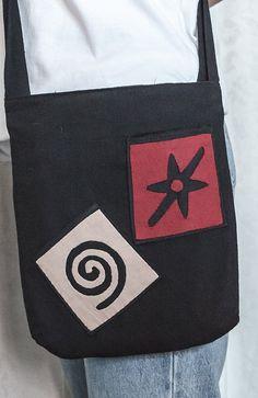 Spiral and coral black cross body bag crossbody by PremiumCrafts, $12.99 Crossbody Shoulder Bag, Shoulder Bags, Crossbody Bag, Ethnic Bag, Black Cross Body Bag, Hobo Bag, Ipad Case, Spiral, Messenger Bag