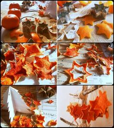 Dried Orange Peel Christmas Ornaments