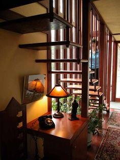 Louis Penfield House .1955. Willoughby Hills. Cleveland, Ohio. Usonian Style. Frank Lloyd Wright