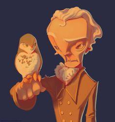 Owl Man by *TastesLikeAnya on deviantART