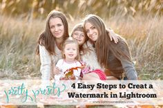 4 Easy Steps to Create a Watermark in Lightroom. Pretty Presets for Lightroom.