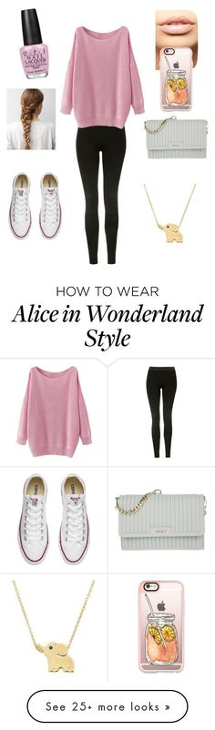 """""""Babysitting Outfit"""" by annamarie316 on Polyvore featuring Topshop, Converse, DKNY, MDMflow, Casetify and OPI"""