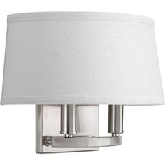 Progress Lighting Cherish Collection 2-Light Brushed Nickel Wall Sconce-P7172-09 - The Home Depot