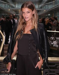 Danish model Nina Agdal - Front row at John Galliano's spring/summer 2015 fashion show in Paris