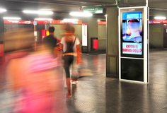 Milan Underground, station Cairoli: #DigitalSignage system by #DOOH_IT
