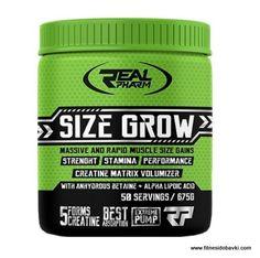 Real pharm size grow е хранителна добавка, която е специално разработена за желаещите да качат чиста мускулна маса и да повишат силата си.