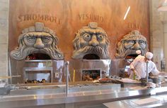 Via Napoli's Wood-burning Pizza Ovens