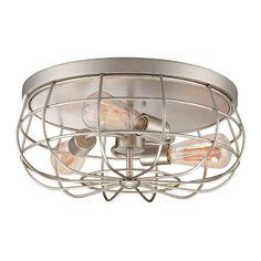 Millennium Lighting 5323 Neo-Industrial 3 Light Flush Mount Ceiling Fixture, Satin Nickel, http://www.amazon.com/dp/B00HS58U9S/ref=cm_sw_r_pi_awdm_WhLVvbQ9DWTJN
