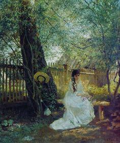 Константин Маковскийコンスタンチン・マコフスキー(1839ー1915)「В саду(庭園にて)」(1870年代後半)