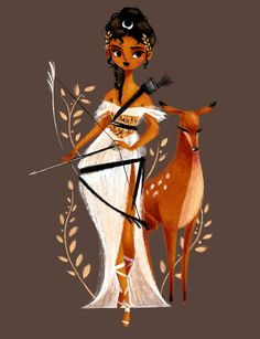 "Benedetta Capriotti-""Artemis, the hunt for hunters :)"" - Artemis Art, Artemis Goddess, Artemis Tattoo, Greek And Roman Mythology, Greek Gods And Goddesses, Greek Goddess Art, Illustration Mode, Illustrations, Potnia Theron"