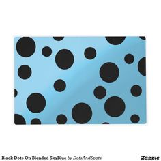Black Dots On Blended SkyBlue Laminated Place Mat