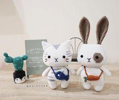 Hain (ハイン) (@hainchan) • Фото и видео в Instagram Christmas Crochet Patterns, Crochet Animal Patterns, Crochet Doll Pattern, Amigurumi Patterns, Crochet Wool, Crochet Baby, Knitted Dolls, Amigurumi Doll, Handmade Toys