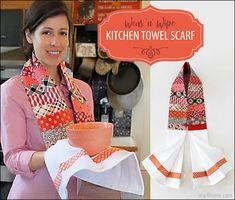 Wear 'n' Wipe Kitchen Towel Scarf | Sew4Home