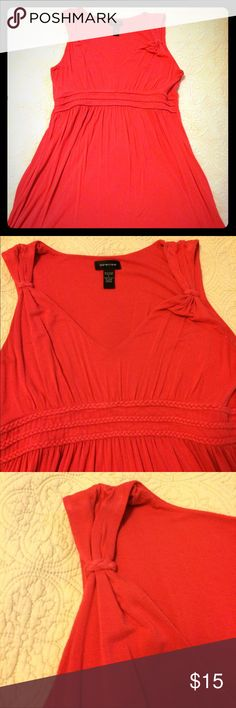 Coral Braid Dress- L Coral braided dress. Has stretch- super cute! Good used condition. Brand: Spence, Size: L Spense Dresses Midi
