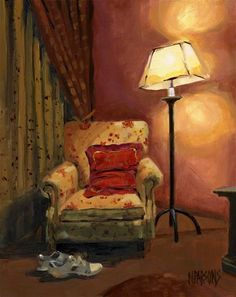 """""""SOLD - And sit right down"""" - Original Fine Art for Sale - © Nancy Parsons"""